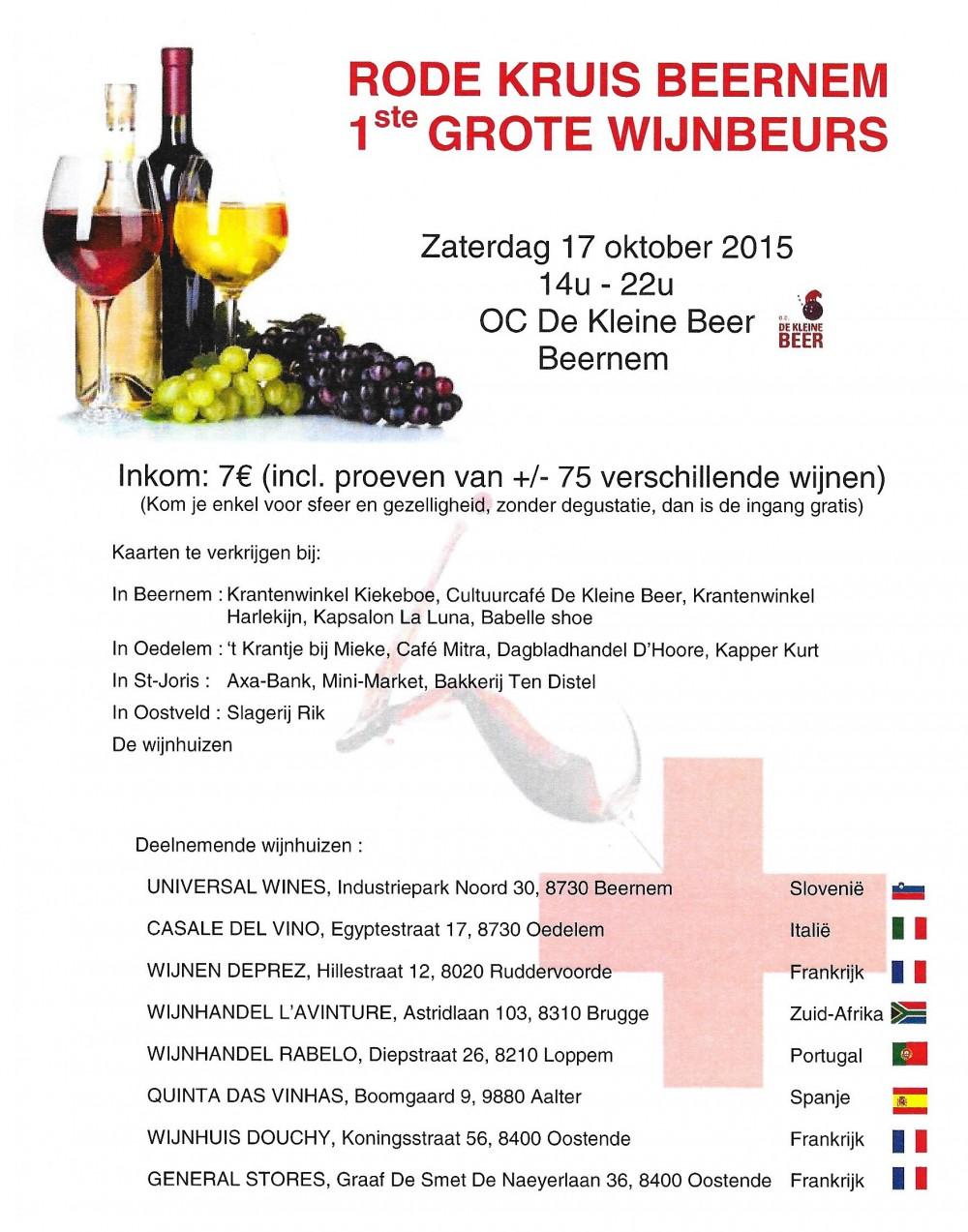 1e Grote Wijnbeurs Rode Kruis Beernem